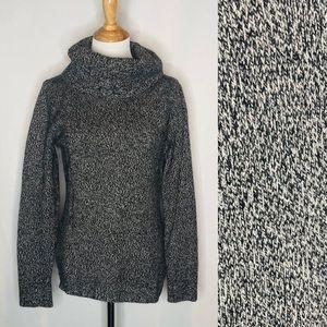 TSE Cashmere Black/Grey Toned Turtleneck Sweater L